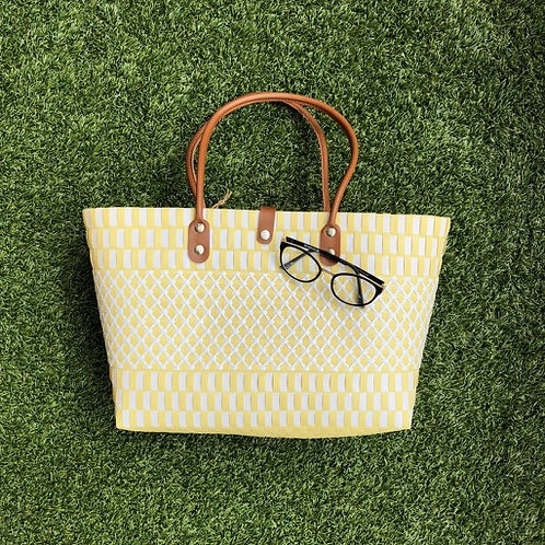 Criss Cross Woven Bag (Canary)