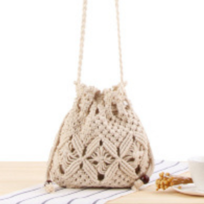 Cotten Crochet Drawstring Pouch