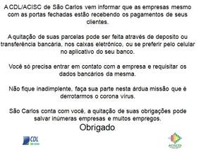 Comunicado CDL - São Carlos