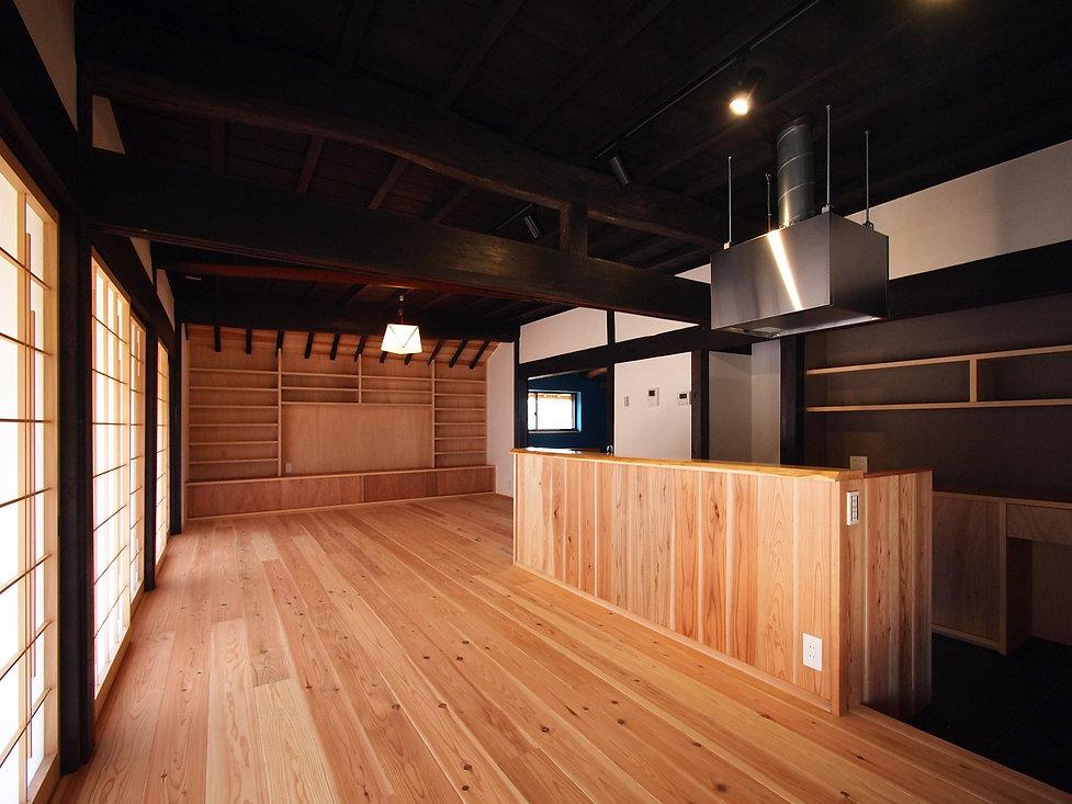 貴志川の古民家リノベーション ダイニング