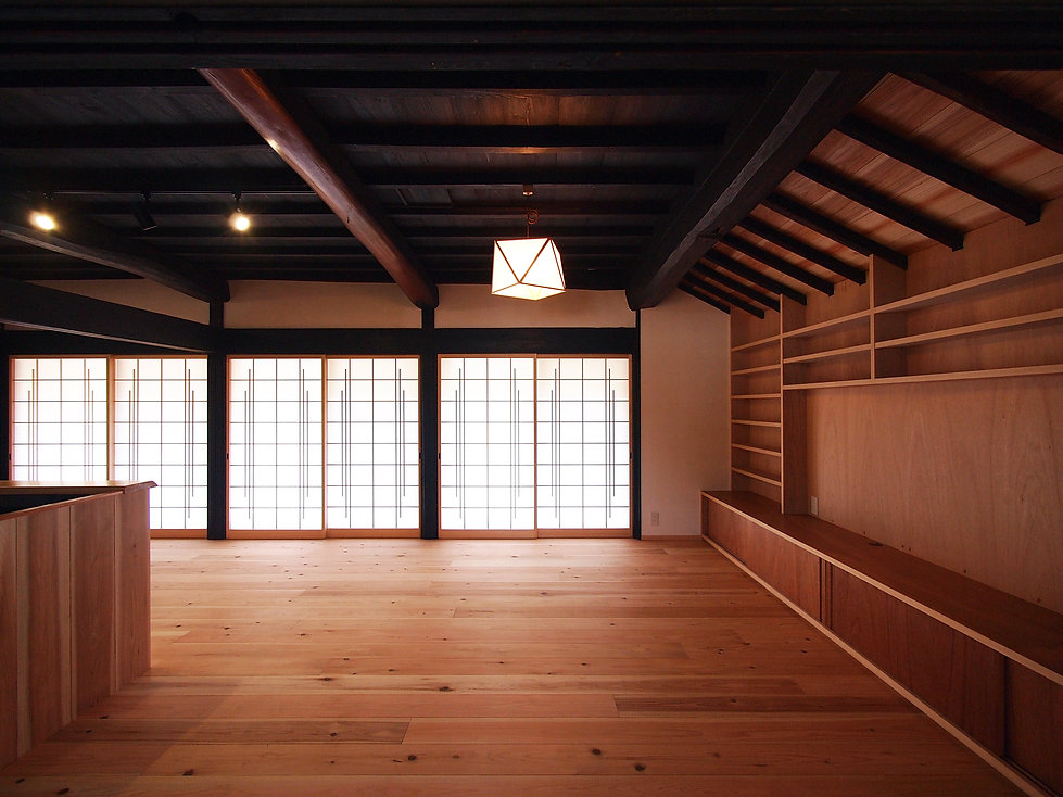貴志川の古民家リノベーション リビング