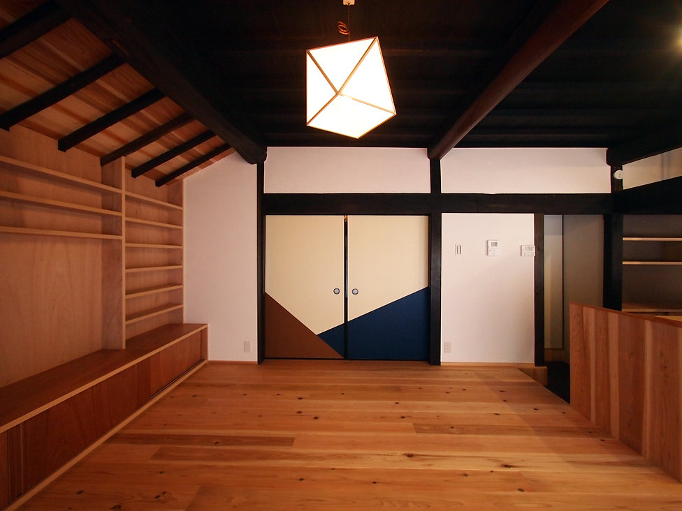 貴志川の古民家リノベーション 引分け襖