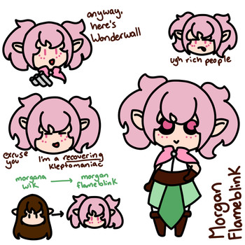 Morgan Flameblink Doodles