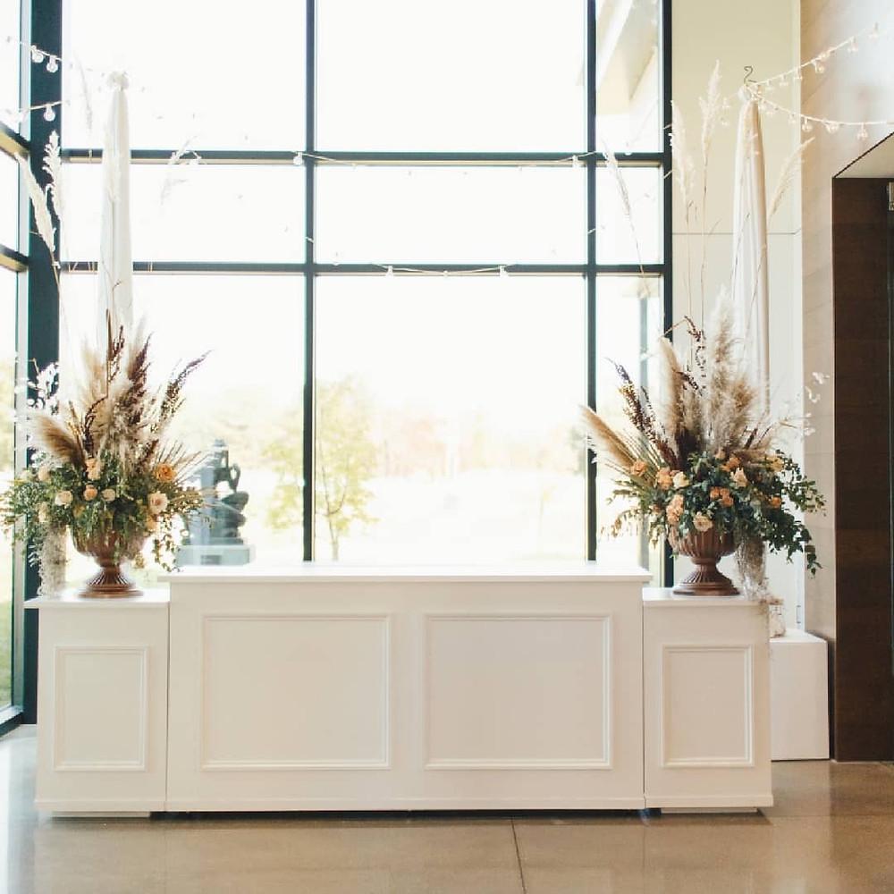 Lux wedding bar set up Wichita kansas