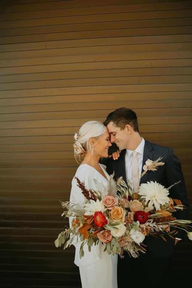 Neutral fall bridal bouquet Wichita kansas