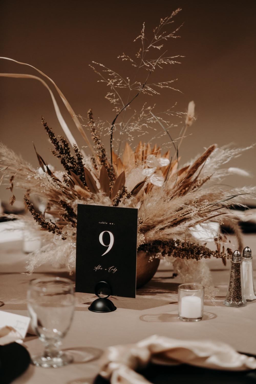 Dried neutral table centerpiece Wichita kansas flowers