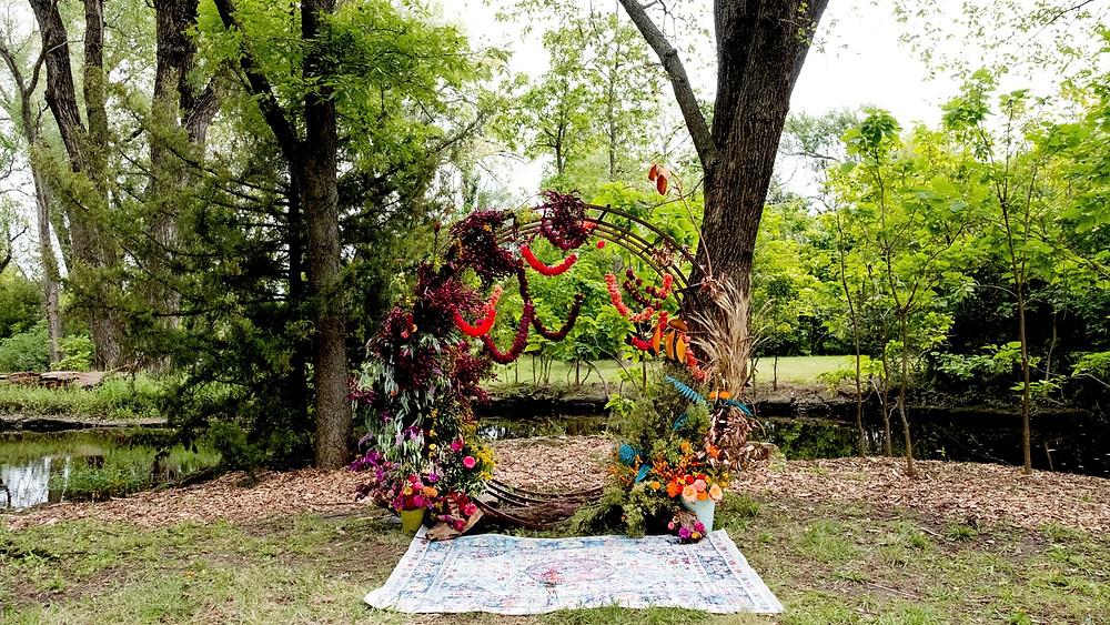 Colorful kansas wedding