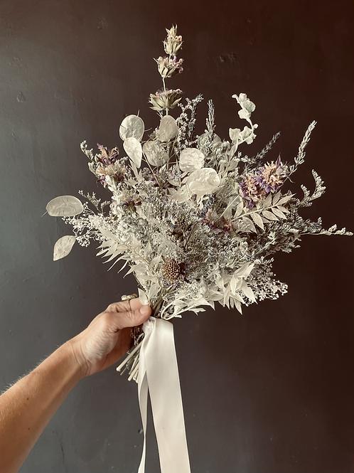 Dried Bouquet White & Purple