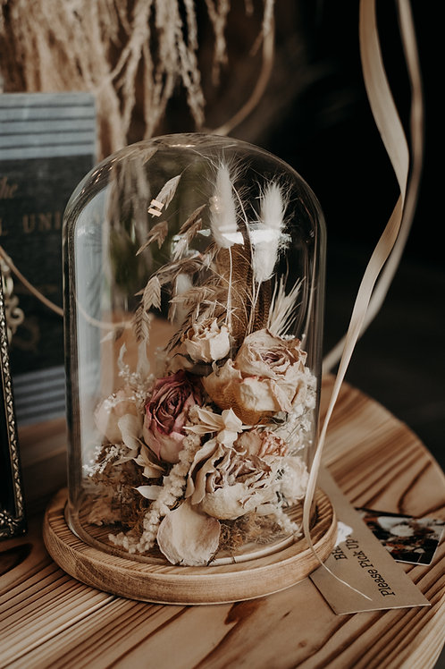 Dried Floral Glass Dome