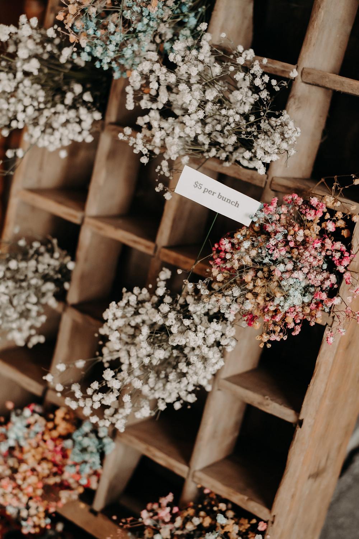 mini bouquet babys breath painted fun flowers wichita kansas