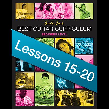 Advanced Beginner: Lessons 15–20