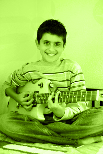 Boy w electric guitar