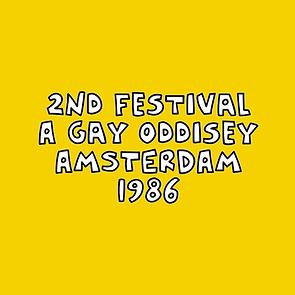 """2ND FESTIVAL 1986 """"A GAY ODYSSEY"""" AMSTERDAM"""