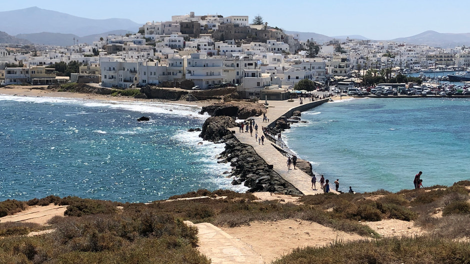 What else can you find on the Greek Aegean? Some lower-key islands, Naxos and Crete