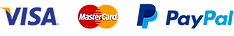 we accept online payment through PayPal, Visa and Mastercard