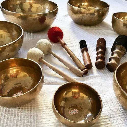 Chakra Healing Set Tibetan Bowl