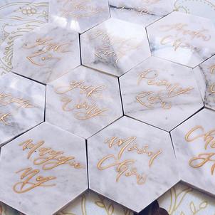 Wedfolks 2020最受歡迎結婚回禮 floralosophy 雲石杯墊