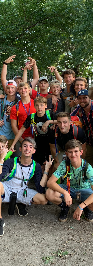2019 NYC Mission Trip Guys Group