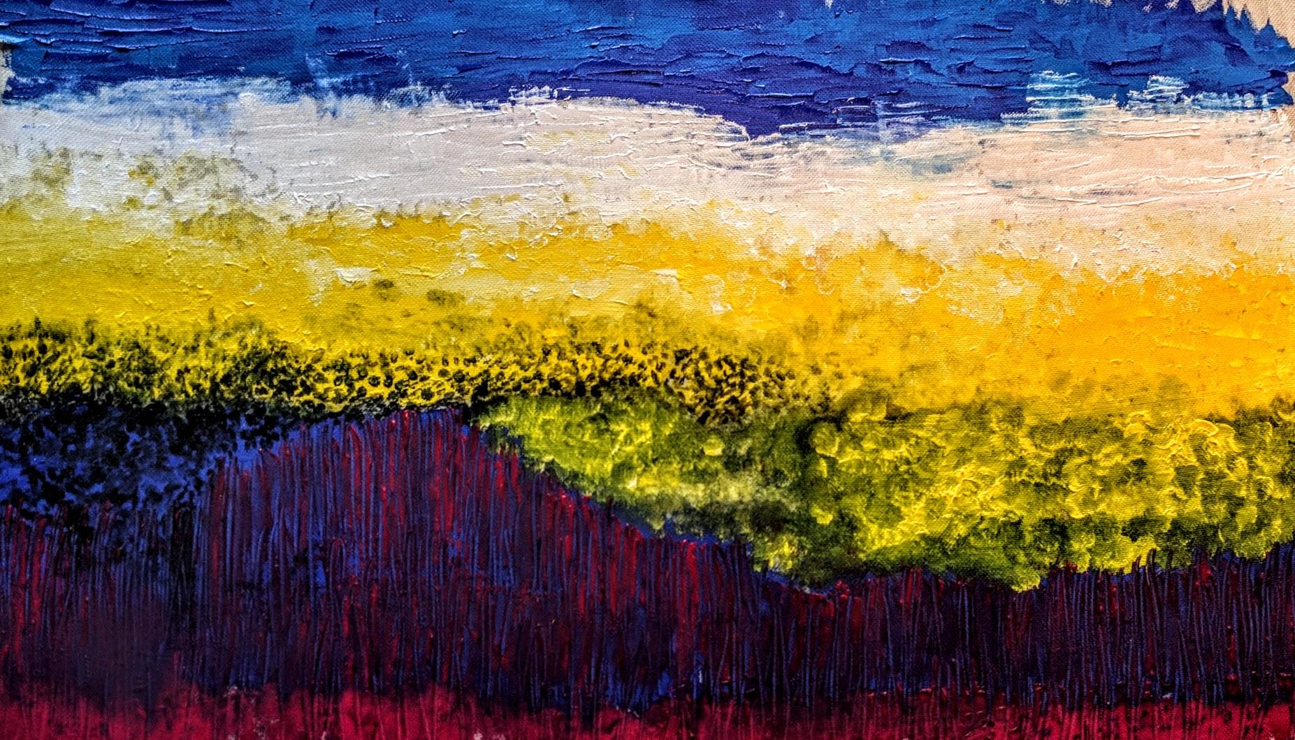 Bloemenveld in geel