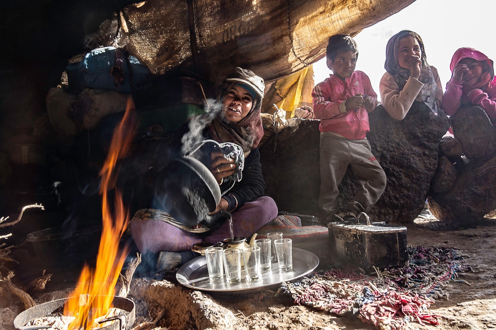 Berber familie