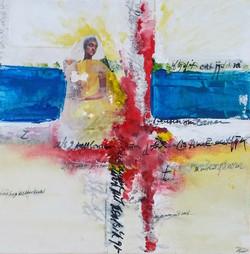 Vrouw in landschap 1 (verkocht)