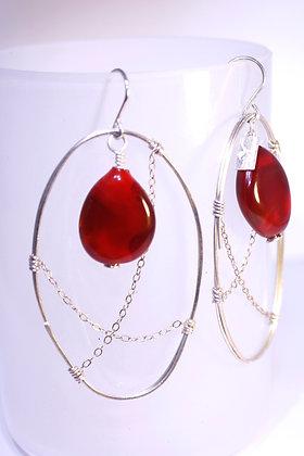 Reddest Caught in the Web Earrings