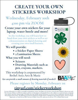 Create Your Own Sticker Workshop