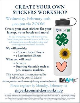 Create Your Own Sticker Workshop