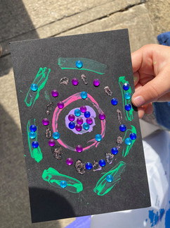 Card made by young artist during Katy Crooker's Holiday Craft Day
