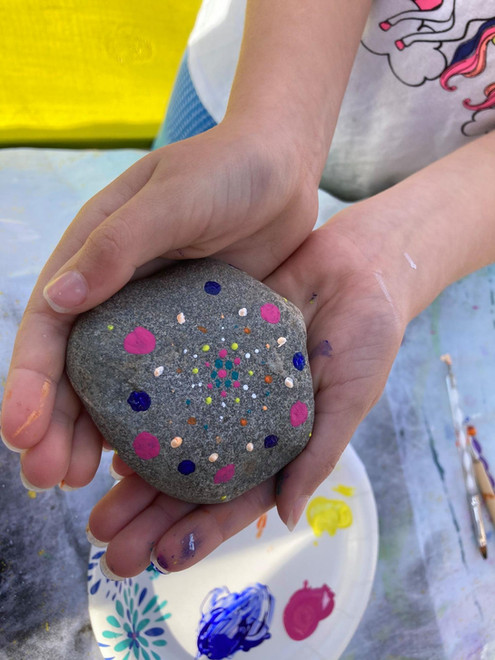 Rock Painting by a young artist