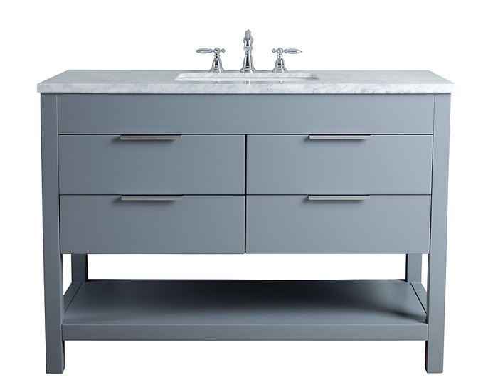 "Rochester 48"" Grey Single Sink Vanity"
