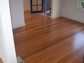 Floor finishing in progress