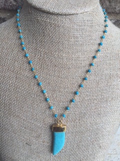 Blu Horn Necklace