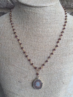 Burgundy Drusy Necklace