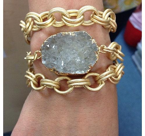 Drusy Gold Chain