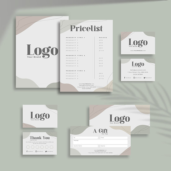 Abstract Shapes Green Branding Bundle