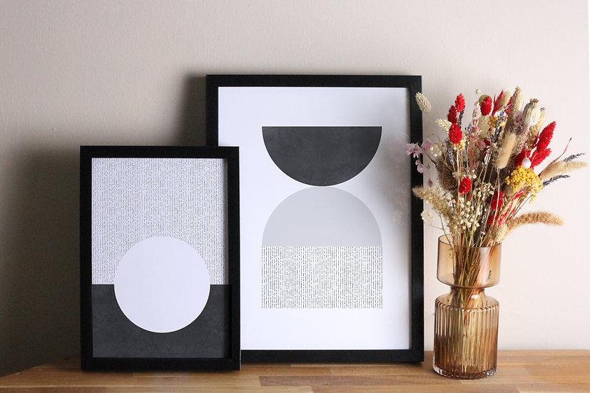 Grey Geometric Prints