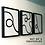 Thumbnail: Monochrome Minimalist Wall Art Prints