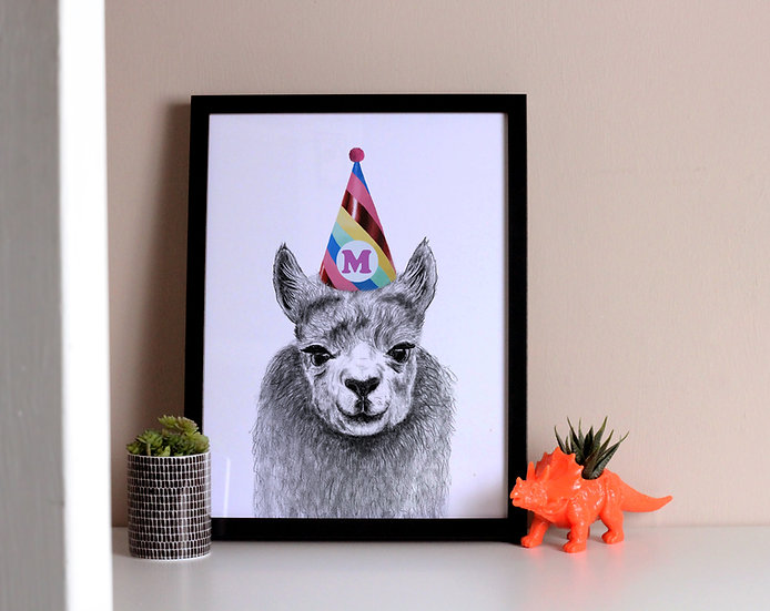 Personalised Party Animal Llama