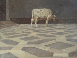 Koe in de hal