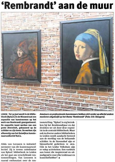 'Rembrandt' aan de muur