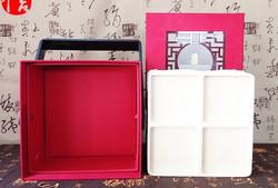 rigid box with handle
