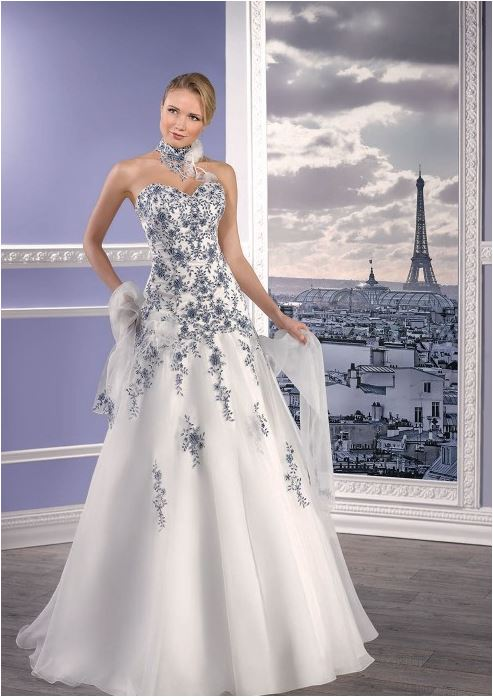 MISS PARIS 173 17 ivory blue