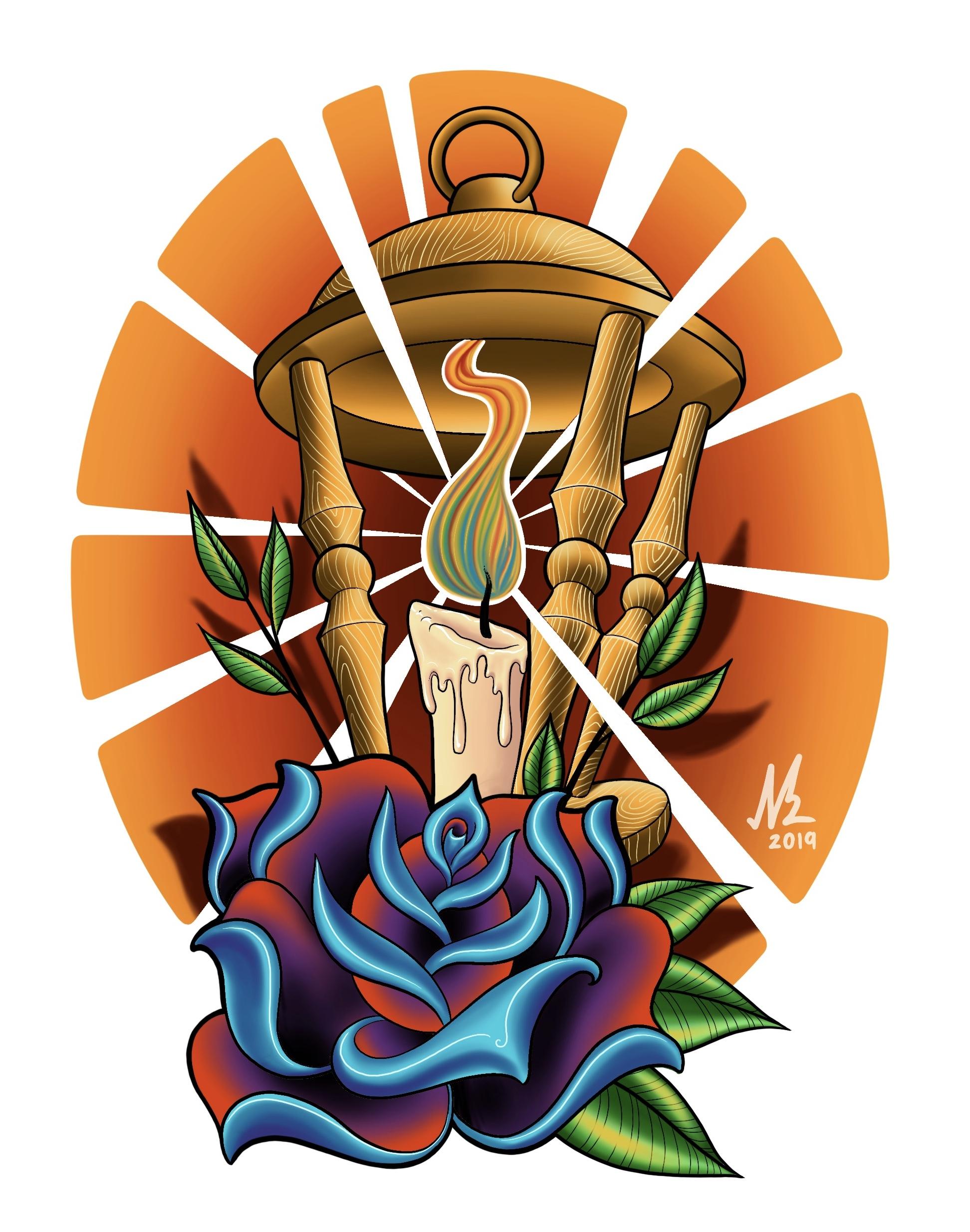 Rose and Lantern