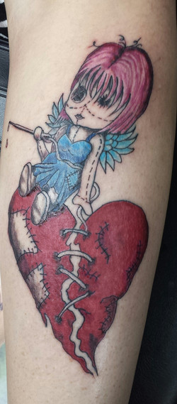 patch work heart and angel