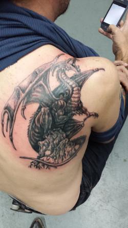 dragon on bone pile
