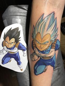 dragon ball vegeta tattoo