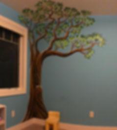 nursery tree room mural