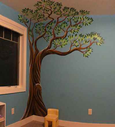 nursery tree room mural