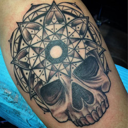 Sacred geometry skull